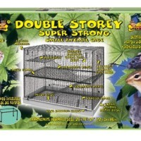 Lazy Bones Double Storey Wire Rodent Cage